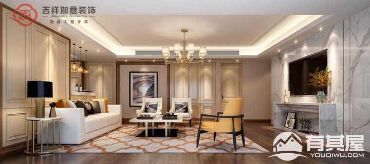 融侨悦城热装户型客厅装修案例