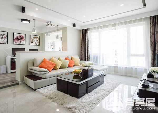四季花语现代简约风格三房装修设计图片