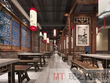 火锅店堂食区设计