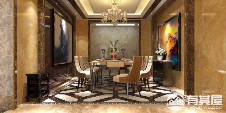 迪生山庄欧式风格复式装修设计案例