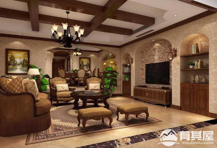 舒适迷人美式风格300平别墅设计案列