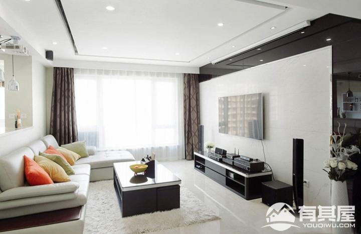 龙湖听蓝湾四室两厅现代风格装修案例