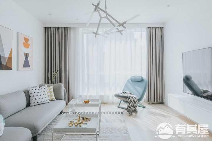 简约典雅北欧风格二居室装修案例