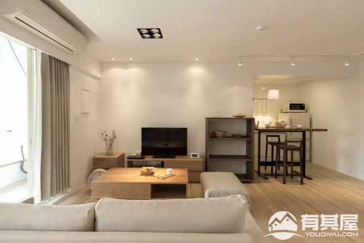 完美简洁现代简约风格二居室装修图