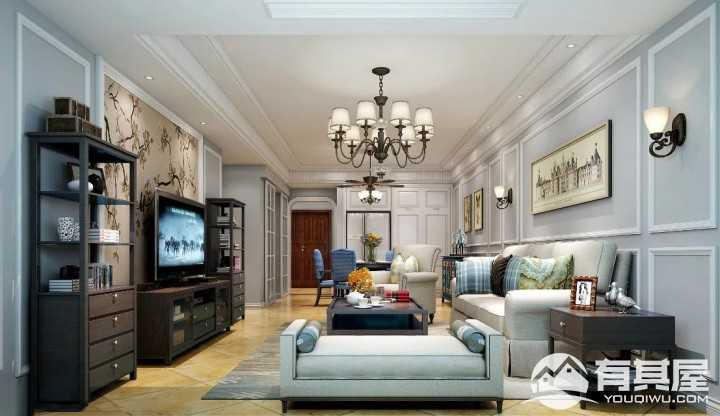 保利香槟现代简约三居室装修图片