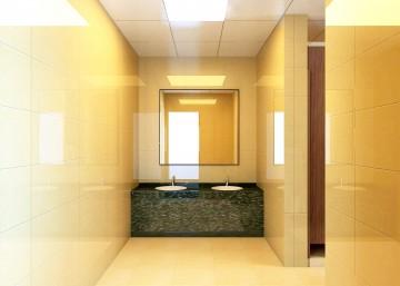男卫生间洗手池效果图