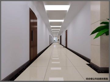 综合楼公共走廊效果图