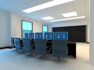 一楼中控室工作台效果图