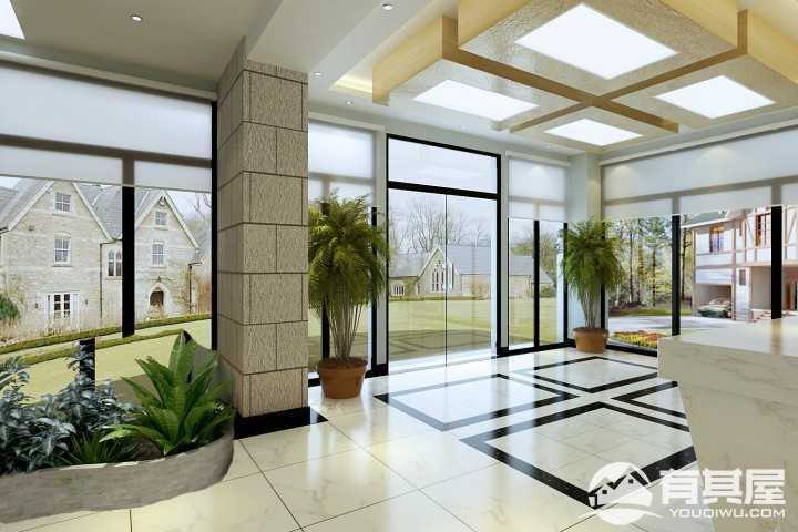 静海恒达责任有限公司办公楼效果图设计