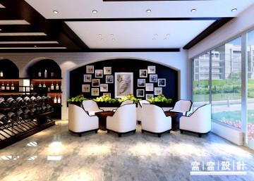 东疆邦泰红酒店铺装修效果图4
