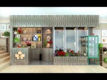 枫木花品鲜花店装修效果图案例