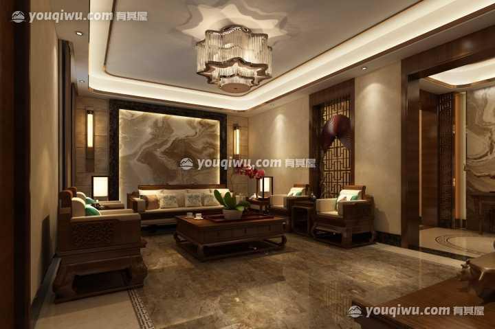 海逸·雍雅堡中式风格别墅装修图片