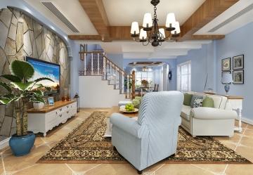 太阳岛高尔夫别墅地中海风格装修设计案例