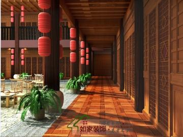 大理三合院传统大空间工装装修案例