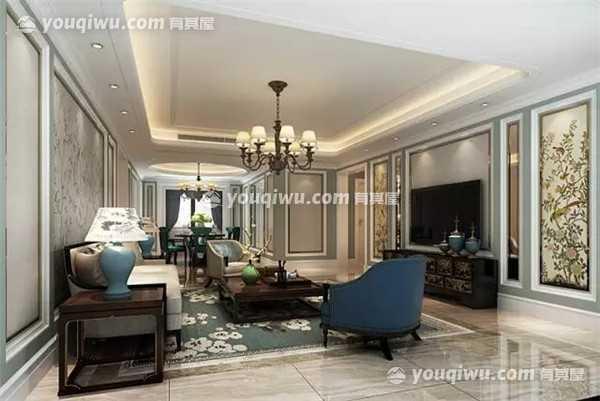 吉安公馆180平大平层江景房现代风格装修案例赏析