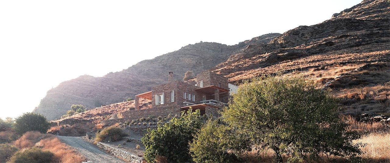 基克拉迪岛的岩石别墅装修效果图,一个让梦想得到绽放的建筑