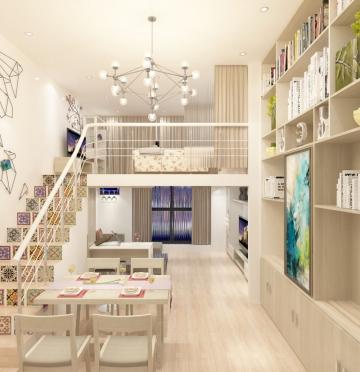 简单明亮的复式楼现代风格装修设计案例