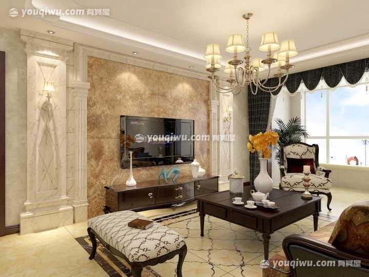 极度温馨的美式风格三居室装修效果图