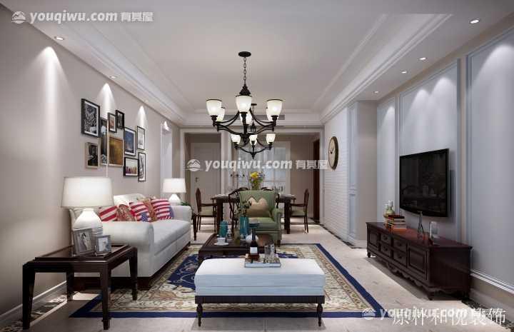 巴丽新地三居室美式风格装修效果图