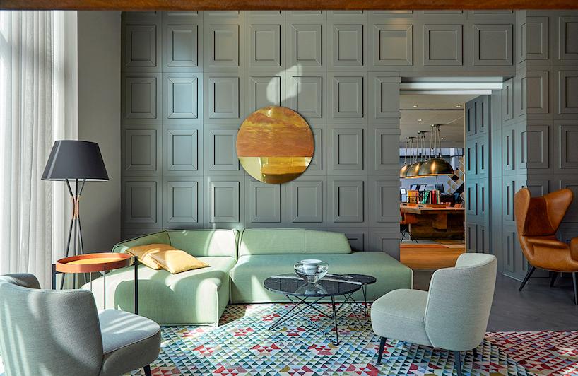 現代風格酒店裝修效果圖——色彩活潑的大膽設計