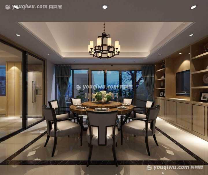淮安半岛中式风格别墅装修设计案例