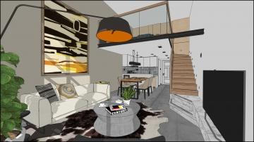 蓝波湾李宅复式楼现代简约风格装修设计效果图