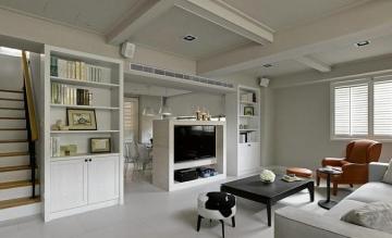 空间界定空间,西三旗现代风格loft复式楼装修案例