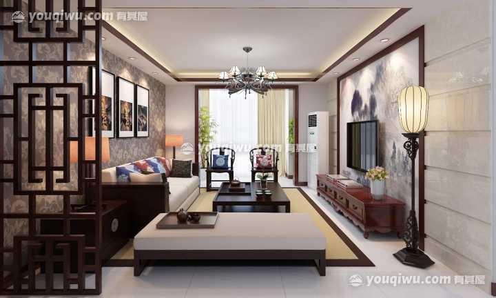洪顺官邸中式风格客厅装修效果图