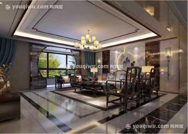 新中式风格四居室装修案例赏析