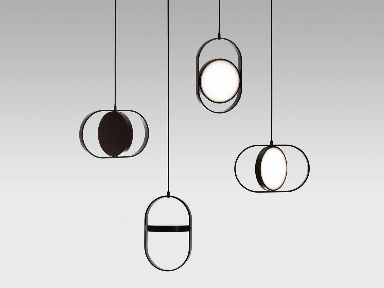 软装饰品丨超时尚可翻转吊灯,以月光为灵感的多功能软装饰品