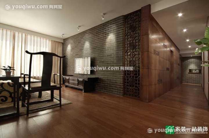 江滨花园135平中式风格装修效果图 古朴,沉稳,内敛,大气!
