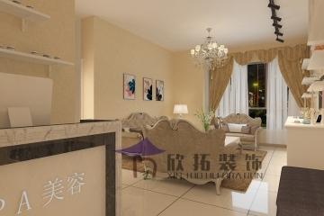七彩云南第一城古典加欧式混搭风格美容院装修效果图