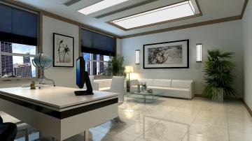 超时尚现代风格办公室工装效果图