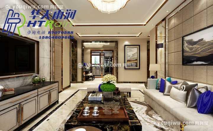 中海紫御官邸107㎡中式风格装修案例