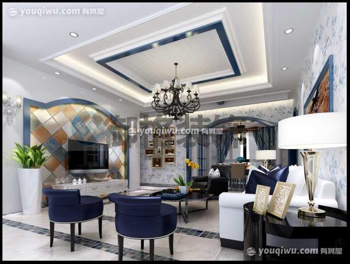 东方明珠140平方米四居室地中海风格装修
