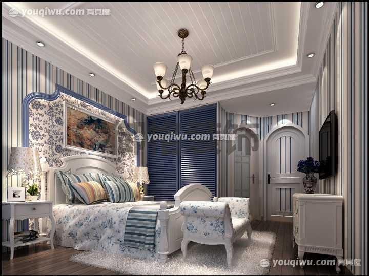 山水湾130平方米三居室地中海风格装修设计