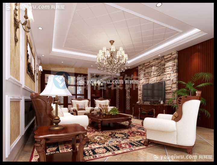 紫云府140平方米四居室美式风格装修