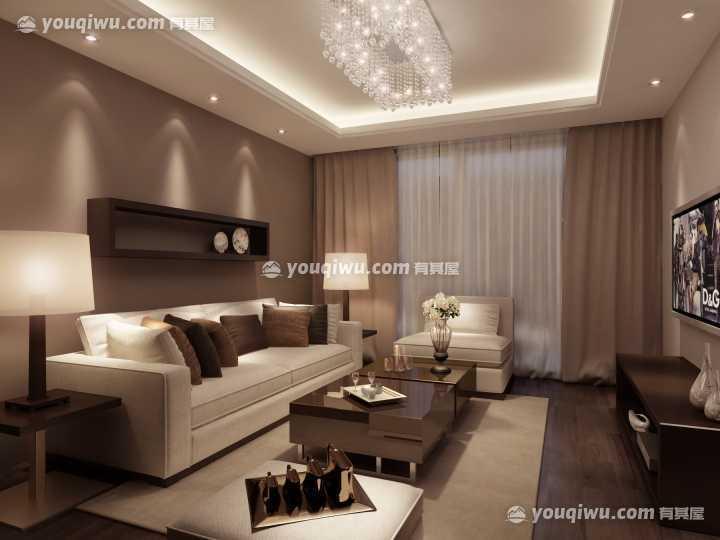 芳古园现代简约风格二居室装修效果图