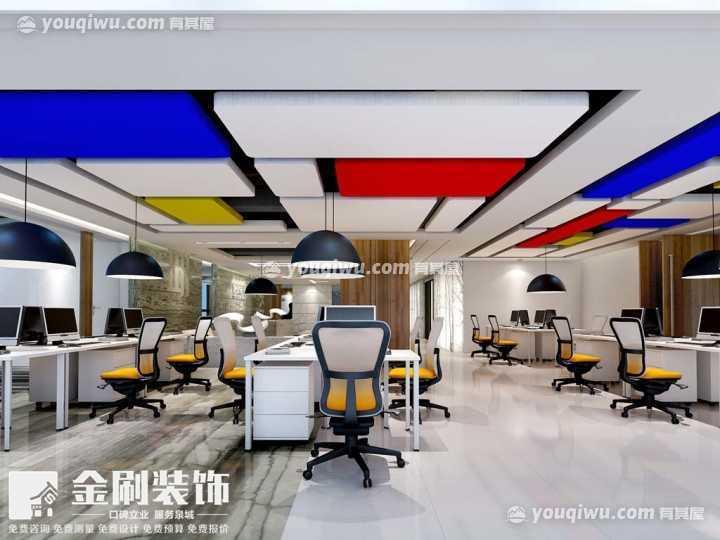 现代时尚写字楼办公室装修效果图