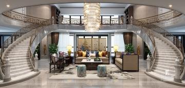 丽晶国际复式700方筑造新中式风格