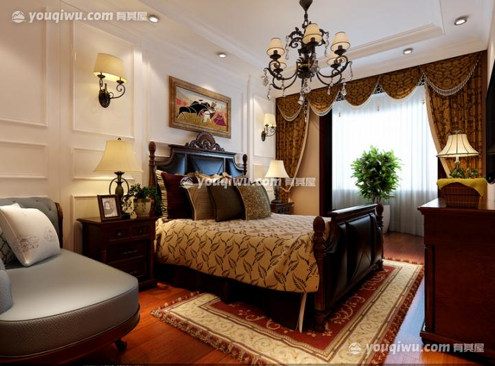 180平米三室一厅两卫一厨一阳台美式乡村风格