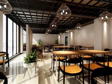 建工新城餐饮店工装案例