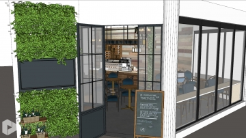 美式复古休闲咖啡店设计
