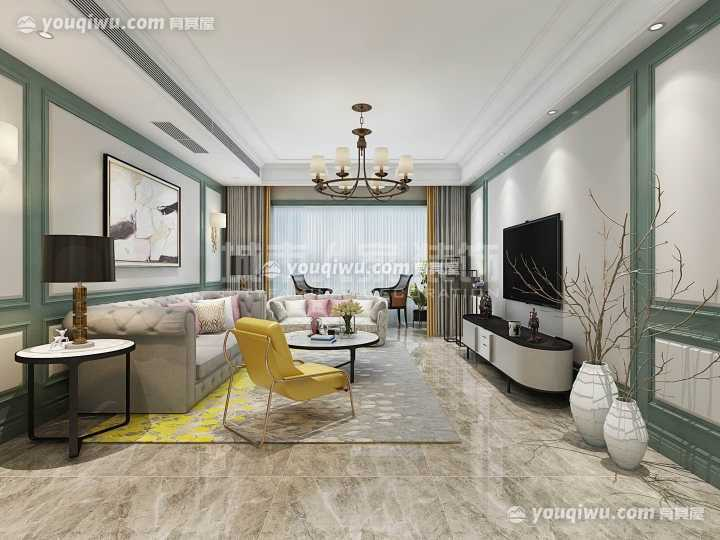 曲江诸子阶168平米简欧风格设计方案
