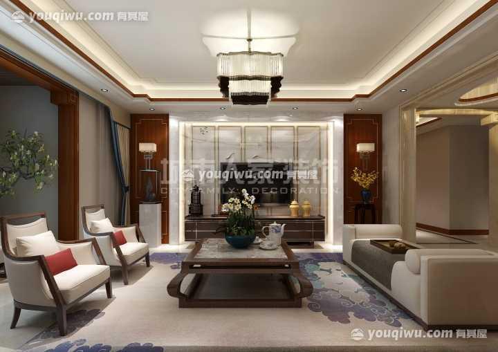 国金华府215平米新中式风格设计方案