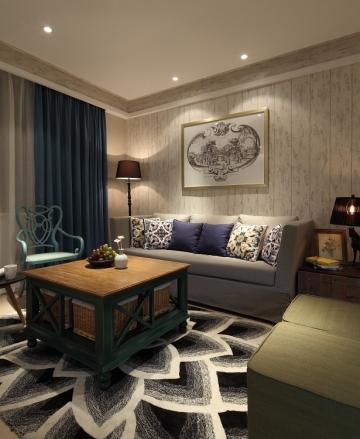 無錫碧桂園混搭風格145平米設計方案 君合裝飾