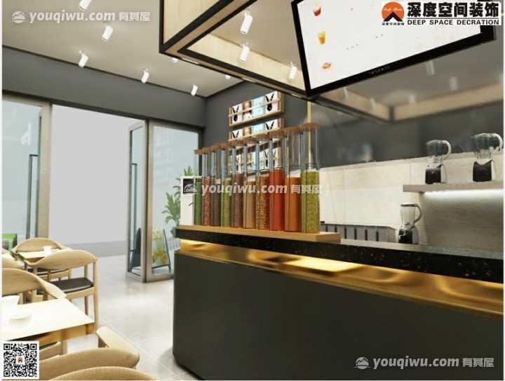 江北品牌奶茶馆与深度空间成功签单
