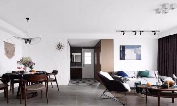 138㎡三居室北欧朴素室内装修效果图