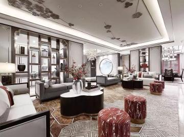 500㎡新中式别墅豪华装修设计效果图