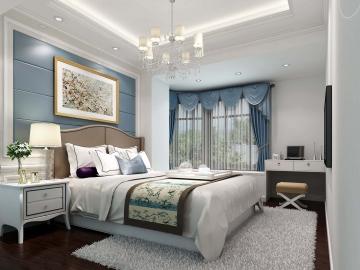 150㎡别墅欧式卧室装 ...